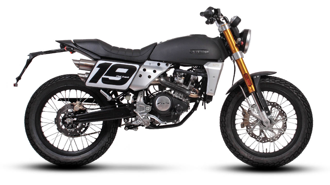 motorcycle fantic caballero flat track 125