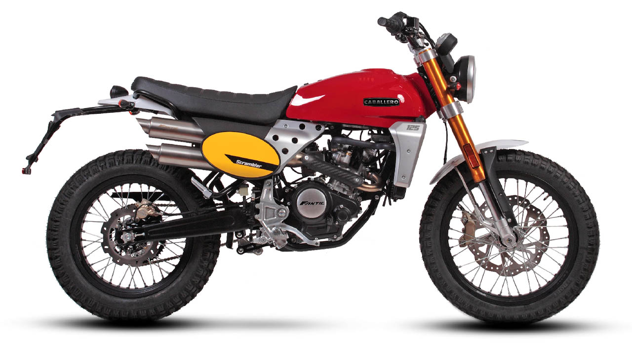 motorcycle fantic caballero scrambler 125