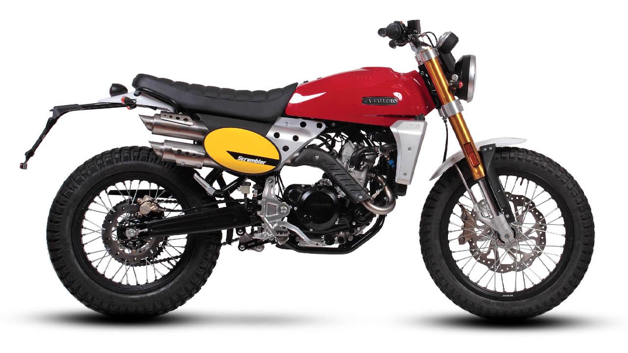 motorcycle fantic caballero scrambler 250