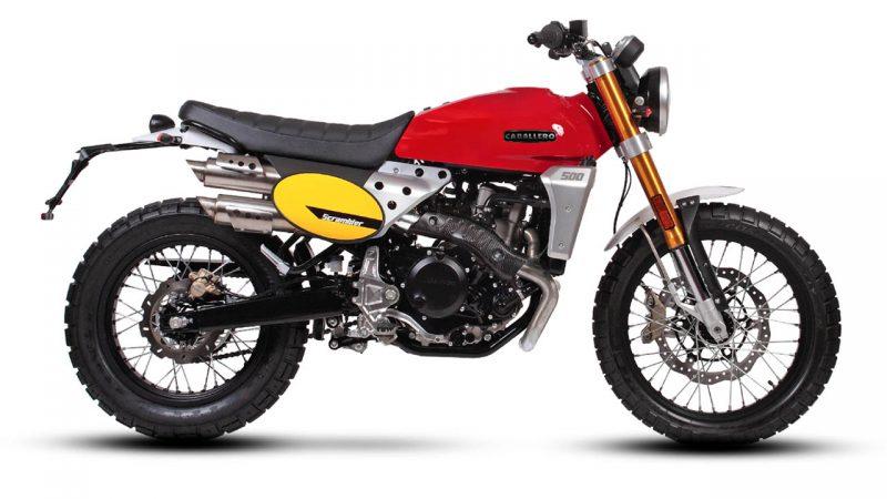 motorcycle fantic caballero scrambler 500