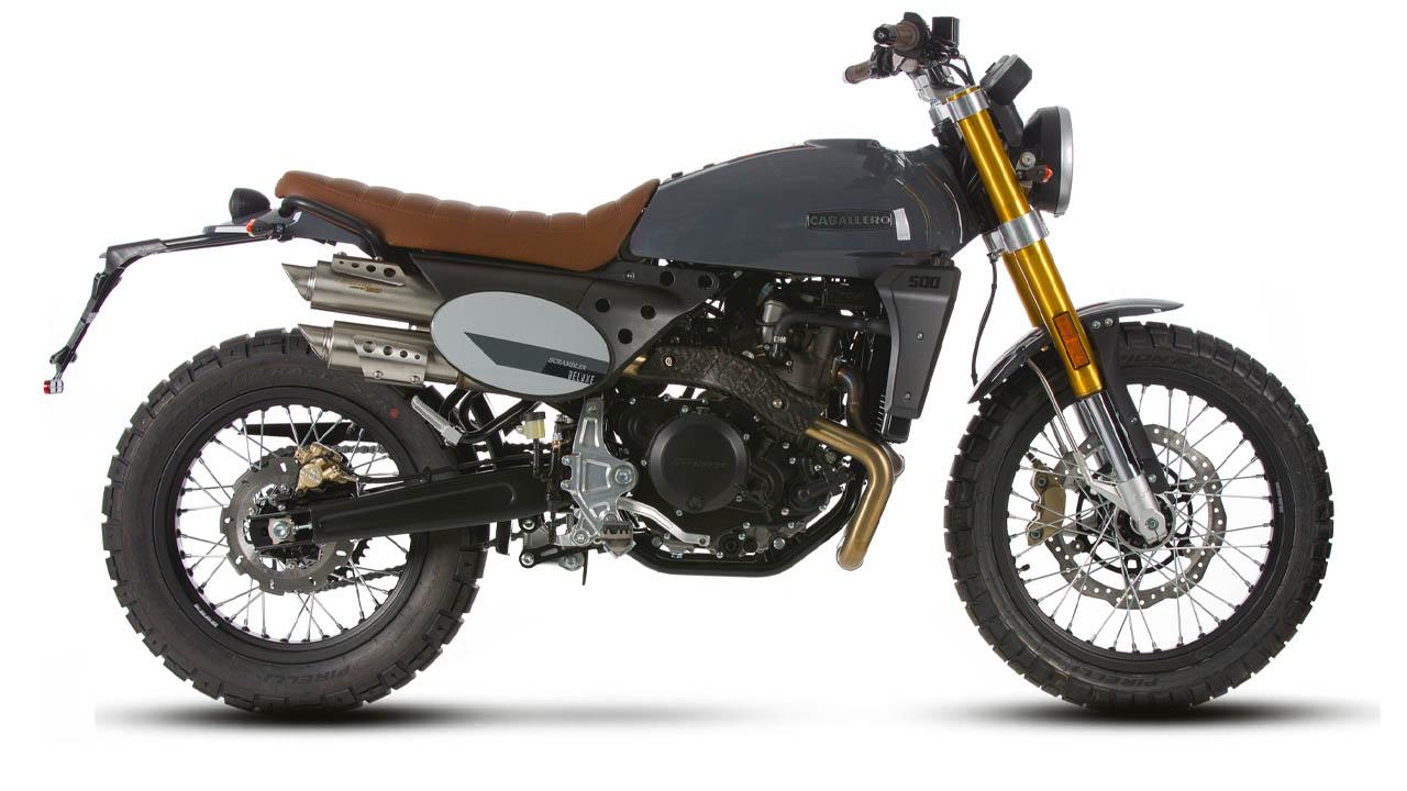 motorcycle fantic caballero scrambler deluxe 500